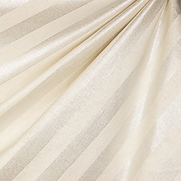 Ivory & Silver Striped Fabric Show Stopper Silver