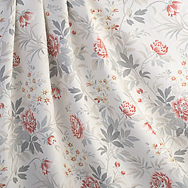 Pink & Gray Lotus Flower Fabric Florette Rose