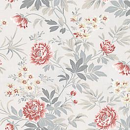 Pink & Gray Lotus Flower Fabric Florette Rose