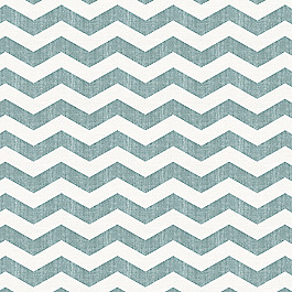 White & Blue Chevron Fabric Live Wire Aqua Tint
