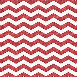 White & Red Chevron Fabric Live Wire Crimson