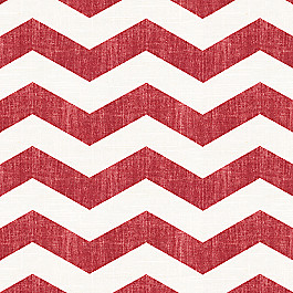 White & Red Chevron Fabric Live Wire Crimson