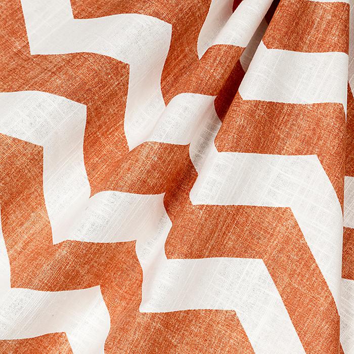 Stunning Orange And White Chevron Fabric Photos - Bathtub for ...