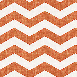 White & Orange Chevron Fabric Live Wire Harvest