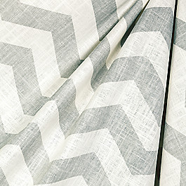 Dappled Light Gray Chevron Fabric Live Wire Glacier