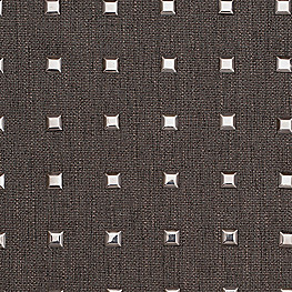 Silver Studded Charcoal Fabric | Stud Muffin Chrome