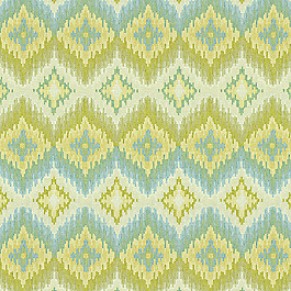 Aqua & Green Flame Sttich Fabric Azteca Daiquiri