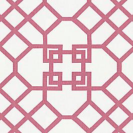 Asian-Style Pink Trellis Fabric Xu Garden Orkid