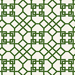 Trellis Fabric asian green trellis fabric | xu garden veridian | loom decor