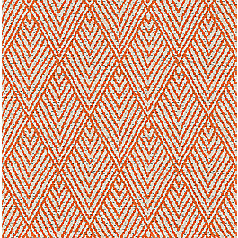 Tribal Orange Diamond Fabric Tahitian Stitch Mandarin