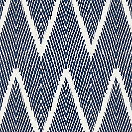 Tribal Navy Blue Chevron Fabric Bali Denim