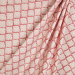Block Print Pink Scallop Fabric Sanganer Blush