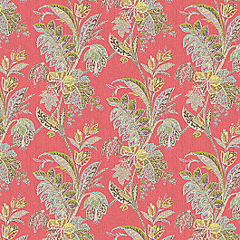 Paisley-Style Pink Floral Fabric Vinaya Festival