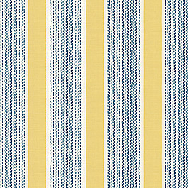 Teal & Yellow Stripe Fabric Chantilly Stripe Custard