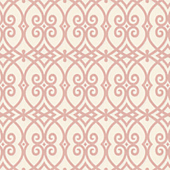 Trellis Fabric scrolled pink trellis fabric | scrolling along shrimp | loom decor
