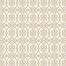 Scrolled Beige Trellis Fabric Scrolling Along Pebble