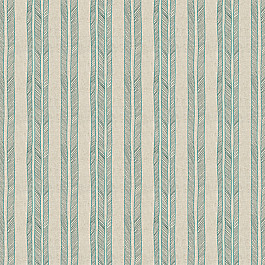 Embroidered Aqua Stripe Fabric | Cords Aqua