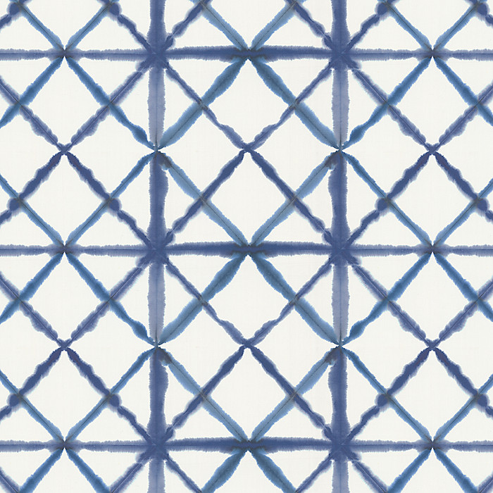Blue Watercolor Diamond Fabric Pixel Allure Loom Decor