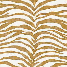 Gold Zebra Print Fabric | Tropo Orche