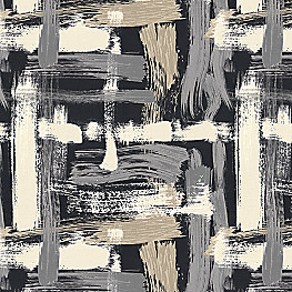 Black & White Brushstrokes Fabric | Sedge Abstract Charcoal