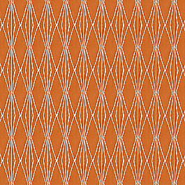 Burnt Orange Diamond Fabric | Handcut Shapes Orange Crush