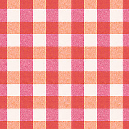 Pink & Orange Buffalo Check Fabric | Udaya Berry