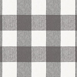 Gray & White Buffalo Check Fabric | Udaya Coal