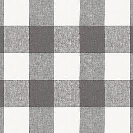 Gray & White Buffalo Check Fabric | Udaya Coal
