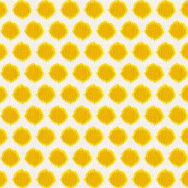 Bright Yellow Dot Fabric | Orbit Sun