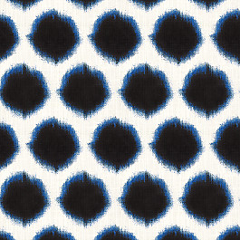 Black & Blue Dot Fabric | Orbit Twilight