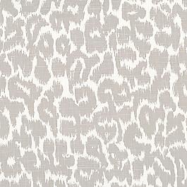 Gray & White Leopard Print Fabric | Tobi Fairley Tommye Mineral