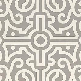 Modern Gray Trellis Fabric   Tobi Fairley Anne Mineral