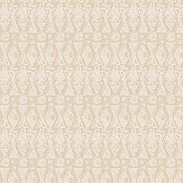 White & Natural Tribal Print Fabric   Sand Storm Chalk