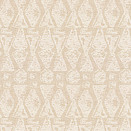 White & Natural Tribal Print Fabric | Sand Storm Chalk