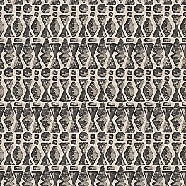 Tan & Black Tribal Print Fabric | Sand Storm Black