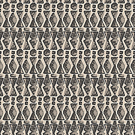 Tan & Black Tribal Print Fabric | Sand Storm Black