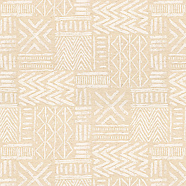 White & Flax Tribal Fabric | Global Charming Ecru