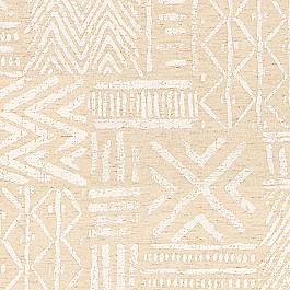 White & Flax Tribal Fabric   Global Charming Ecru