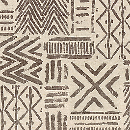 Taupe Tribal Fabric | Global Charming Cinder