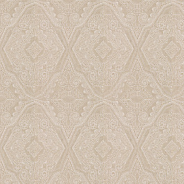 White & Tan Embroidery Fabric | Best in Show Ecru
