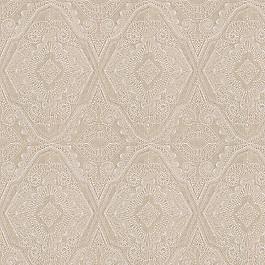 White & Tan Embroidery Fabric   Best in Show Ecru