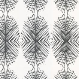 Black & White Spiky Oval Fabric | Twig Out Black