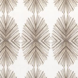 White & Tan Spiky Oval Fabric | Twig Out Brindle