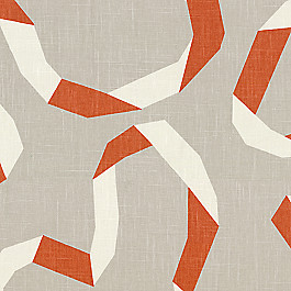 Orange Red Ribbon Fabric | Vento Ribbon Persimmon