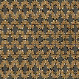 Gray & Metallic Copper Fan Fabric | Fan Fair Bronze