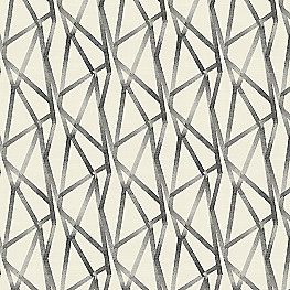 Black & White Abstract Stripes Fabric | Tessellate Charcoal