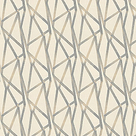 Silver & Tan Abstract Stripes Fabric | Tessellate Lead