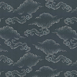 Navy Blue Cloud Fabric | Cloudburst Azure