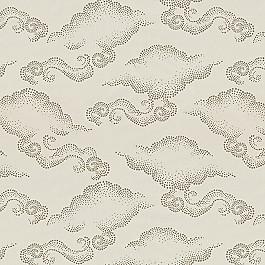 Metallic Silver Cloud Fabric | Cloudburst Pearl