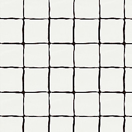 Black & White Check Fabric | Painted Check Ink